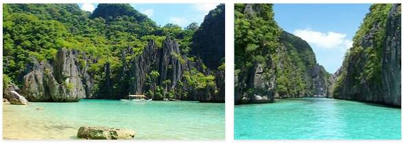 Palawan archipelago in the Philippines